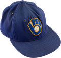 Baseball Collectibles:Hats, 1980's Paul Molitor Game Worn Milwaukee Brewers Cap. ...