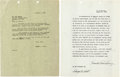 "Autographs:Letters, 1946 Red Grange Signed Coca-Cola Contract for ""All-Time Wi..."