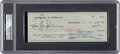 Autographs:Checks, 1959 Vince Lombardi Signed Green Bay Packers Check Made Out to Jack Vainisi, PSA/DNA Authentic....
