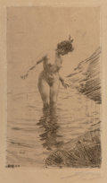 Fine Art - Work on Paper, Anders Leonard Zorn (Swedish, 1860-1920)Mä...
