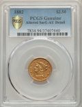 1882 $2 1/2 -- Altered Surfaces -- PCGS Genuine Gold Shield. AU Details. NGC Census: (4/153 and 0/1+). PCGS Population:...