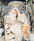 Paintings:Contemporary, Clarence Measelle (French, b. 1948). Untitled (Mason Jar with Seashells). Acrylic on canvas. 40-1/4 x 48-1/2 inches (102...