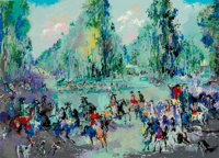 LeRoy Neiman (American, 1921-2012) Hunt Rendezvois (Hommage to Oudry), 1992 Serigraph in colors on paper 29 x 40 inch