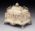 Silver & Vertu:Hollowware, A French Silver Jewelry Casket, mid-19th century. Marks: (partially effaced Minerva's head), partially effaced 800, (hor...
