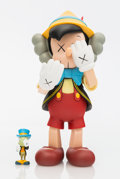 Collectible:Contemporary, KAWS X Disney. Pinocchio & Jiminy Cricket, 2010. Painted cast vinyl. 10-1/4 x 5 x 4-1/2 inches (26 x 12.7 x 11.4 cm) (Pi...