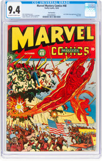 Marvel Mystery Comics #48 San Francisco Pedigree (Timely, 1943) CGC NM 9.4 Off-white to white pages