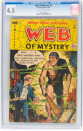 Golden Age (1938-1955):Horror, Web of Mystery #5 (Ace, 1951) CGC VG+ 4.5 Off-white to white pages....