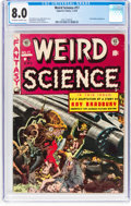 Golden Age (1938-1955):Science Fiction, Weird Science #17 Canadian Edition (Superior, 1953) CGC VF 8.0Off-white to white pages....