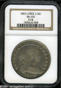 Early Dollars: , 1803 S$1 Large 3 Fine 12 NGC....