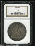 Proof Seated Dollars: , 1857 S$1 PR60 NGC....