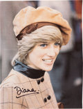 Movie/TV Memorabilia:Autographs and Signed Items, Diana Princess of Wales Signed Color Magazine Page....