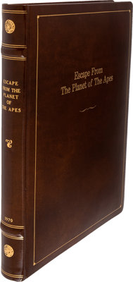 Escape From the Planet of the Apes Original Leather Bound Presentation Final Screenplay (1970)