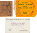 Music Memorabilia:Posters, Jimi Hendrix - Two Concert Ticket Stubs And Press Pass, In...