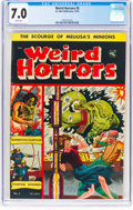 Golden Age (1938-1955):Horror, Weird Horrors #5 (St. John, 1952) CGC FN/VF 7.0 White pages....