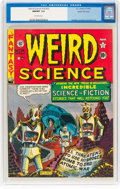 Golden Age (1938-1955):Science Fiction, Weird Science #14 (#3) Gaines File Pedigree 3/11 (EC, 1950) CGC NM/MT 9.8 Off-white pages....