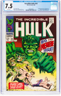 The Incredible Hulk #102 (Marvel, 1968) CGC VF- 7.5 White pages
