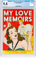 Golden Age (1938-1955):Romance, My Love Memoirs #12 (Superior Comics, 1950) CGC NM 9.4 Off-white towhite pages....