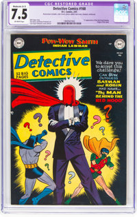 Detective Comics #168 (DC, 1951) CGC Apparent VF- 7.5 Moderate (A-3) Off-white pages