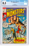 Bronze Age (1970-1979):Horror, Where Monsters Dwell #1 (Marvel, 1970) CGC VF+ 8.5 Cream tooff-white pages....