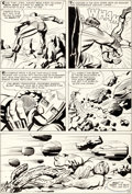 Original Comic Art:Panel Pages, Jack Kirby and Paul Reinman Avengers #3 Page 9 Original Art (Marvel, 1964)....