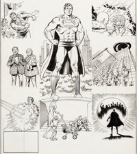 Curt Swan and Murphy Anderson (as Swanderson) Superman #423 Cover Original Art (DC, 1986)
