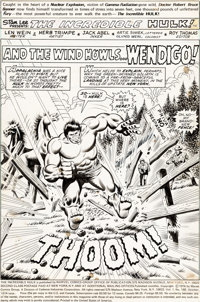 Herb Trimpe and Jack Abel Incredible Hulk #180 Partial Story Original Art Group of 15 (Marvel, 1974).... (Total: 15 Orig...