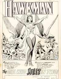 "Murphy Anderson Hawkman #4 Zatanna First Appearance Complete 13-Page Story ""The Girl Who Split In Two!"" Origin..."