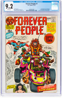The Forever People #1 (DC, 1971) CGC NM- 9.2 White pages