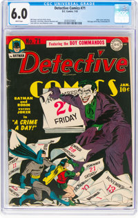 Detective Comics #71 (DC, 1943) CGC FN 6.0 White pages