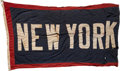 Baseball Collectibles:Others, Circa 1940 Yankee Stadium Flag: New York Yankees.. ...