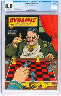 Dynamic Comics #12 (Chesler, 1944) CGC VF 8.0 Off-white pages