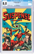 Golden Age (1938-1955):Horror, Suspense Comics #9 (Continental Magazines, 1945) CGC VF 8.0 White pages....