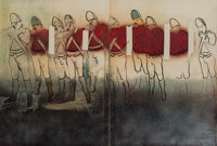 Larry Rivers (American, 1923-2002) Redcoats - Mists, from Boston Massacre Series, 1970 Seriagraph in
