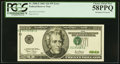 Error Notes:Shifted Third Printing, Misaligned Overprint Fr. 2088-E $20 2001 Federal Reserve Note. PCGS Choice About New 58PPQ.. ...