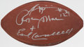 Autographs:Footballs, Heisman Trophy Winners Multi-Signed Football (7 Signatures)....