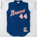 Autographs:Jerseys, Hank Aaron Signed Atlanta Braves Jersey....
