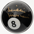 Autographs:Others, Willie Mosconi Signed Eight Ball....