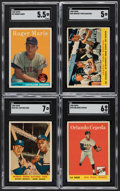 Baseball Cards:Sets, 1958 Topps Baseball Near Set (493/494). ...