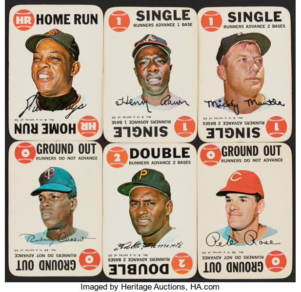 1968 Topps Game Baseball Complete Set 33 Baseball