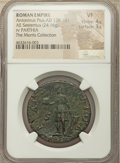 Ancients:Roman Imperial, Ancients: Antoninus Pius (AD 138-161). AE sestertius (32mm, 24.16 gm, 6h). NGC VF 4/5 - 3/5....
