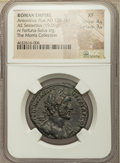 Ancients:Roman Imperial, Ancients: Antoninus Pius (AD 138-161). AE sestertius (30mm, 19.09gm, 10h). NGC XF 4/5 - 3/5....