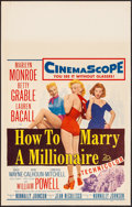 """Movie Posters:Comedy, How to Marry a Millionaire (20th Century Fox, 1953). Very Fine.Window Card (14"""" X 22""""). Comedy.. ..."""