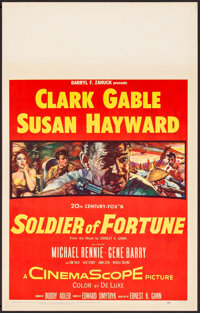 "Soldier of Fortune & Other Lot (20th Century Fox, 1955). Very Fine. Window Cards (3) (14"" X 22""). Adventur..."