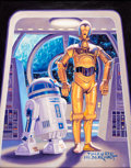 Original Comic Art:Paintings, Tim and Greg Hildebrandt - R2D2 and C3PO from Star Wars Painting Original Art (undated)....