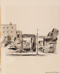 Works on Paper:Drawing, Peter Hurd (American, 1904-1984). A Group of Four Studies (2 double-sided works), 1942. Ink and ink wash on paper, each... (Total: 2 Items)