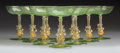 Glass, Ten Murano Glass Figural Coupes, Venice, Italy, mid-19th century. 5-1/2 x 4-1/4 x 4-1/4 inches (14.0 x 10.8 x 10.8 cm). ... (Total: 10 Items)