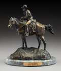 Sculpture, Herb Mignery (American, b. 1937). Hilltop Break. Bronze with dark brown patina. 8-3/4 inches (22.2 cm) high on a 3/4 inc...