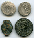 Ancients:Ancient Lots  , Ancients: ANCIENT LOTS. Judaean and Roman. 133 BC-AD 315. Lot offour (4) AR and AE. Fine.... (Total: 4 coins)