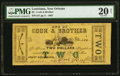 Obsoletes By State:Louisiana, New Orleans, LA- Cook & Brother $2 Mar. 15, 1862 PMG Very Fine 20 Net.. ...