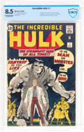 Silver Age (1956-1969):Superhero, The Incredible Hulk #1 (Marvel, 1962) CBCS VF+ 8.5 ExceptionalWhite pages....